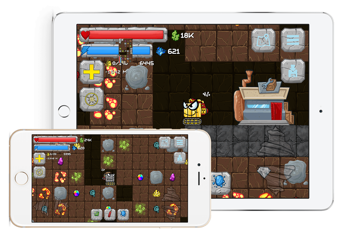 android ios game digger machine