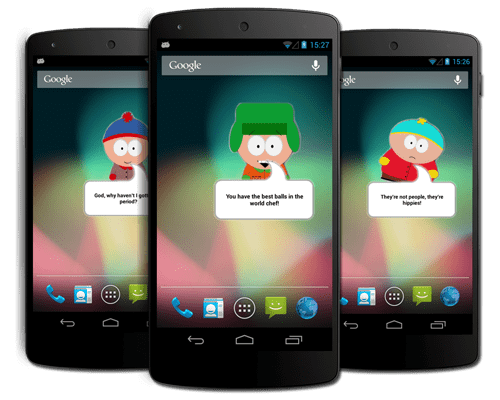 android southpark widget